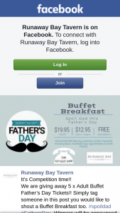 Runaway Bay Tavern – Win One of Five Adult Buffet Father's Day Tickets