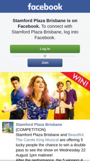 Samford Plaza Brisbane – Win a Double Pass to See The Show on Wednesday 22 August 1pm Matinee