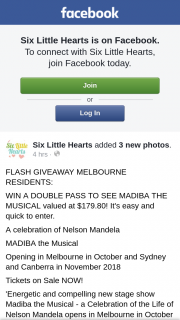 Six Little Hearts – Win a Double Pass to See Madiba The Musical Valued at $179.80 (prize valued at $179)