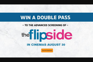 Smooth FM – Win Exclusive Tickets to The Advanced Screening of 'the Flip Side' (prize valued at $50)