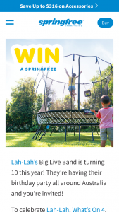 Springfree Trampolines & LahLah – Win The Following (prize valued at $1,974)