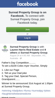 Surreal Property Group – Win a $100 Coles Myer Voucher