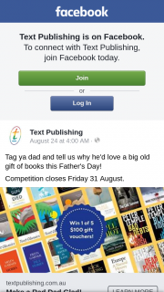 Text publishing – Win One of Five $100 Gift Vouchers (prize valued at $500)