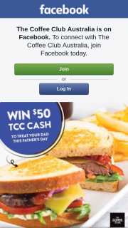 The Coffee Club – Win $50 Tcc Cash
