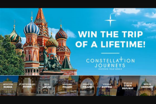 The Living Room – Win The Trip of a Lifetime (prize valued at $46,480)