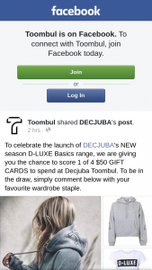 Toombul Shopping Centre – Win One of Four $50 Decjuba Gift Cards