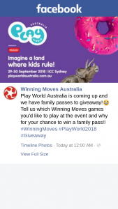 Winning Moves – Win a Family Pass