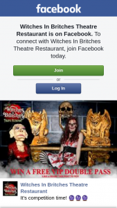 Witches in Britches Theatre Restaurant – a Free VIP Double Pass
