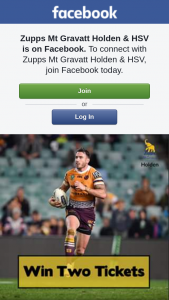 Zupps Mt Gravatt Holden & HSV – Win Six Gold Member Tickets to Broncos Vs Sea Eagles Game