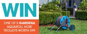 ABC Gardening Australia – Win 1 of 5 Gardena AquaRoll Hose trolleys valued at $99 each
