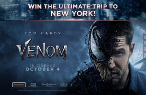 Network Ten – Sony Venom Consumer – Win a prize package of a trip for 2 to New York valued at up to $12,390
