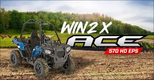 Polaris Australia – Win an ACE 570 HD for yourself and another one to donate to a drought-related charity of your choice valued at $11,995 each