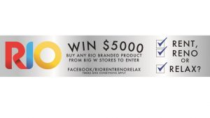 Rio – Underwear – Win 1 of 5 Visa Debit gift cards valued at $5,000 each