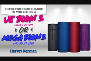 5AA – Either a Ue Boom 3 Valued at $199 Or Megaboom 3 Valued at $299 (prize valued at $199)