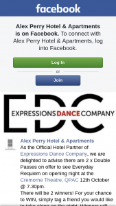 Alex Perry Hotel & Apartments – Win a Double Pass to See Expressions Dance Company's Everyday Requiem