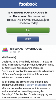 Brisbane Powerhouse – Win a Double Pass to See a Place In Time By Camerata