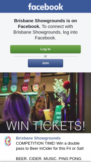 Brisbane Showgrounds – Win a Double Pass to Beer Incider for this Fri Or Sat