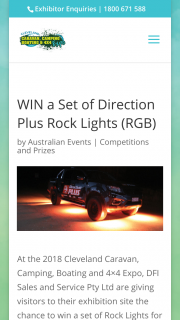 Cleveland Expo Qld -Visit DFI Sales & Service to – Win a Set of Rock Lights for Your Vehicle (prize valued at $270)