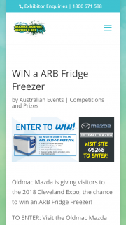 Cleveland Expo Qld – Visit Oldmac Toyota Site to – Win an Arb Fridge Freezer