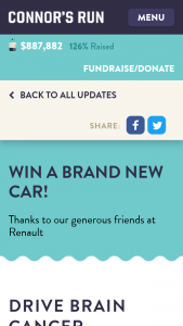Connors Run – Win a Brand New Car (prize valued at $31,990)