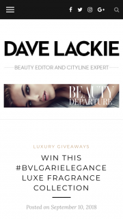 Dave Lackie – Win this #bvlgarielegance Luxe Fragrance Collection
