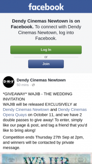 Dendy Cinemas Newtown – Win One of Two Double Passes to See Wajib The Wedding Invitation