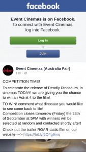 Event Cinemas Australia Fair – Win One of 3 Admit 4 Passes to See The Film