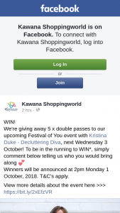 Kawana Shoppingworld – Five Doubles to Upcoming Festival of You Event With Kristina Duke