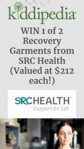 Kiddipedia – Win 1 of 2 Recovery Garments From Src Health (valued at $212 Each) (prize valued at $212)