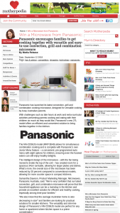 Motherpedia – Win a Microwave From Panasonic (prize valued at $549)