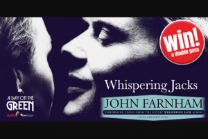 5mu SA – Win Double Pass's to See Johnny Farnham Day on The Green Mclaren Vale