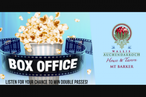 5mu SA – Win Double Pass's to See The Movie of Your Choice at Wallis Cinemas Mt Barker