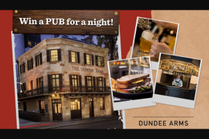 NOVA 96.9 – Win The Pub for a Night (prize valued at $5,000)
