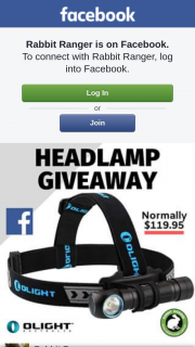 Olight Headlamp Giveaway from Rabbit Ranger – Competition (prize valued at $119)
