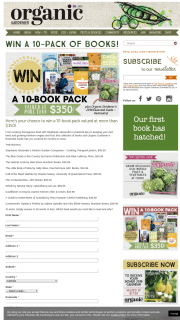 Organic Gardener – Win a 10-book Pack Valued at More Than $350 (prize valued at $370)