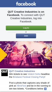 QUT Creative Industries – Win Two Tickets