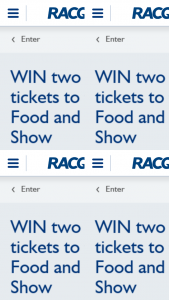 RACQ – Is Open to All Residents of Queensland Over The Age of 18 Years of Age Only (prize valued at $240)