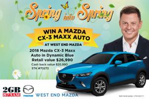 Radio 2gb Sydney – Win a 2018 Mazda Cx-3 Maxx Automatic Worth $26990 (prize valued at $26,990)