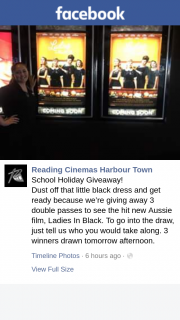 Reading cinemas Harbourtown – 3 Double Passes to See The Hit New Aussie Film