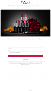 Scout Cosmetics – Win &#100241 of 10 Scout Pure Colour Lip Duo Sets