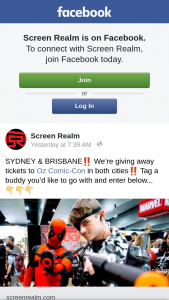 Screen Realm – Tickets to Oz Comic-Con In Both Cities&#8252&#65039 Tag a Buddy You'd Like to Go With and Enter Below..