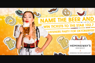 Star1027 Cairns – Tickets to Dave and Inkie's Listeners' Party for You and Three Mates at Hemingways