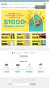 Temple & Webster – Win 1 of 2 $1000 Shopping Sprees (prize valued at $1,000)