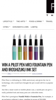 The F – Win Your Own Pilot Pen Mr3 Fountain Pen and Iroshizuku Ink Set