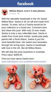 Willow Bears – Win The Adorable Handmade In The Uk Sasha Willow Bear
