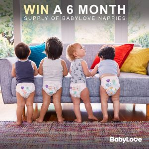 BabyLove – Win 1 of 10 prizes of 6 month supply of BabyLove Nappies