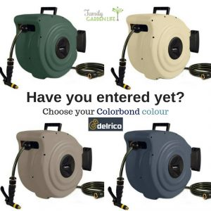 Family Garden Life – Win a Delrico 28mtr Coloured Retractable Hose Reel valued at $279