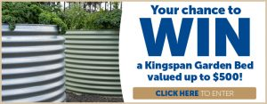Gardening Australia – Win a Kingspan Garden Bed valued up to $500