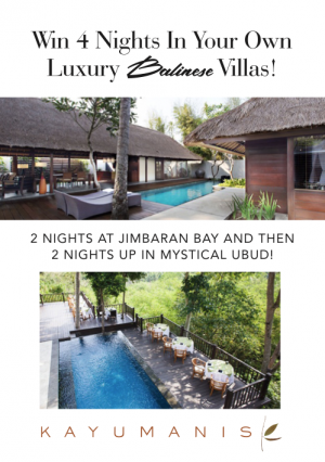 Holiday for Couples – Win 4 nights for 2 in your own 5-star luxury Baliness villas