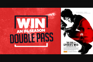 7ad TAS – Win a Double Pass to Check Out The Girl In The Spiders Web